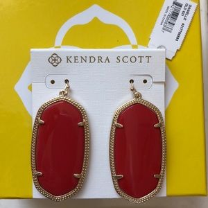 Kendra Scott Danielle earrings- bright red